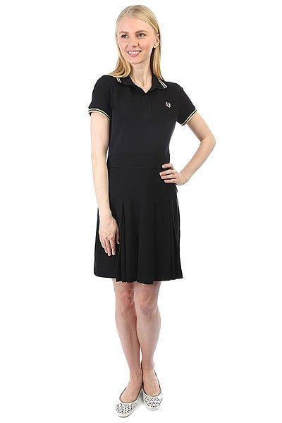 Платье женское Fred Perry Pique Tennis Dress Black<br><br>Цвет: черный<br>Тип: Платье<br>Возраст: Взрослый<br>Пол: Женский