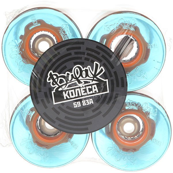 Колеса для скейтборда для лонгборда Вираж 83A 59 mm Blue Led OrangeДиаметр: 59 mm    Жесткость: 83A    Цена указана за комплект из 4-х колес<br><br>Цвет: голубой,оранжевый<br>Тип: Колеса для лонгборда