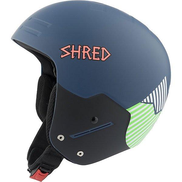 Шлем для сноуборда Shred Basher Noshock Needmoresnow Navy Blue/GreenСертифицированный шлем, прочный, с низким профилем, отвечает нормам FIS 2013 RH. Шлем разработан для фристайла с защитой от ударов.Технические характеристики: Съемная подкладка и подушечки для ушей.Съемная подкладка из гигиеничного материала X-Static.Удобная посадка и настройка по размеру.Металлическая клипса с системой быстрого открывания.SLYTECH NOSHOCK™ -  специальные вставки в форме сот из твердеющего нано материала SLYTECH встроены во внутреннюю конструкцию шлема и абсорбируют удары, эффективно рассеивая их энергию.Технология защиты ICEdot™ -  сервис экстренного оповещения, который синхронизирует надежный онлайн профиль с наклейкой шлема, содержащей уникальный код. Сервис отправляет уведомления о помощи в случае экстренной ситуации.INFINITE RAA™ - обеспечивает амортизацию в случае удара, сводит к минимуму повреждение головы.Супер прочный и гибкий полимер SHRED SHIELD специально спроектированный для системы MULTI IMPACT и NOSHOCK MULTI IMPACT.NOSHOCK MULTI IMPACT - легкая и прочная защита из полимера EPP обеспечивает превосходное поглощение энергии и защиту от ударов.<br><br>Цвет: черный,синий<br>Тип: Шлем для сноуборда<br>Возраст: Взрослый<br>Пол: Мужской