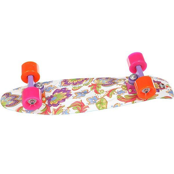 Скейт мини круизер Пластборд Drop White/Multi 6 x 22.5 (57.2 см)<br><br>Цвет: мультиколор,белый<br>Тип: Скейт мини круизер