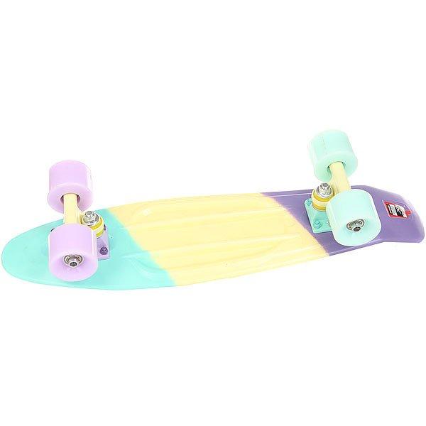 Скейт мини круизер Пластборд Cute Multi 6 x 22.5 (57.2 см)Пластборд  - это пластиковый скейтборд-круизер с загнутым хвостом для передвижения по городу и трюкачества. Очень прочная дека, качественные подвески, подшипники и колеса сделают вашу езду плавной и комфортной.Технические характеристики: Дека из прочного полиуретана повышенной прочности и эластичности.Подвески из алюминия.Бушинги Union 89А.Подшипники - Union Water Prof Abec7 (водонепроницаемая конструкция).Колеса - круизного типа Union Virage диаметром 59 мм со стандартной мягкостью 83А.Нестирающееся цепкое покрытие.Различные расцветки в ассортименте.<br><br>Цвет: мультиколор<br>Тип: Скейт мини круизер