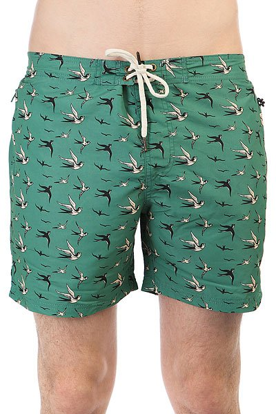 Шорты пляжные Запорожец Lastochki Green<br><br>Цвет: зеленый<br>Тип: Шорты пляжные<br>Возраст: Взрослый<br>Пол: Мужской