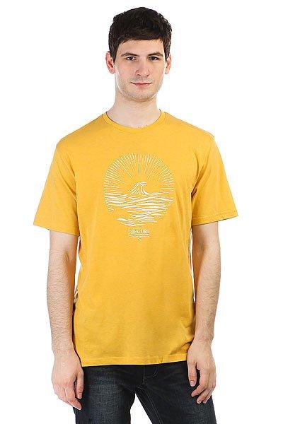 Футболка Rip Curl Peak Tee Spicy Mustard Marle<br><br>Цвет: желтый<br>Тип: Футболка<br>Возраст: Взрослый<br>Пол: Мужской
