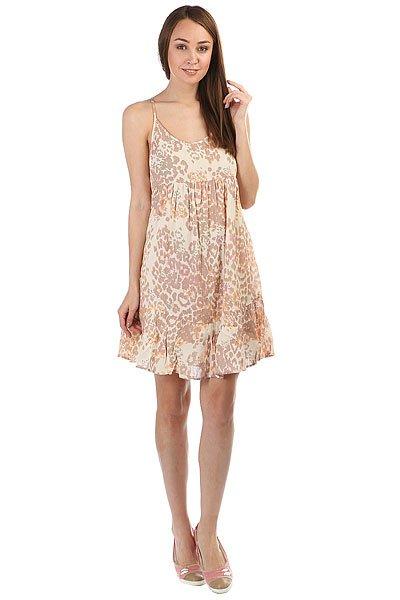 Платье женское Rip Curl Animalia Dress Peach<br><br>Цвет: бежевый<br>Тип: Платье<br>Возраст: Взрослый<br>Пол: Женский