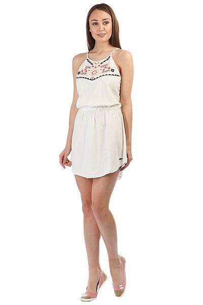 Платье женское Rip Curl Fiesta Dress Cloud Dancer<br><br>Цвет: бежевый<br>Тип: Платье<br>Возраст: Взрослый<br>Пол: Женский