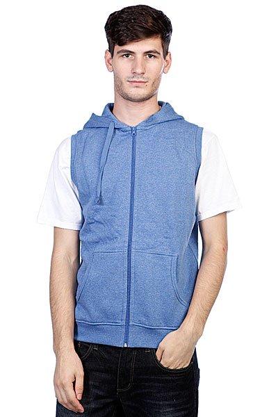Толстовка Urban Classics Melange Sleevless Zip Hoody Blue