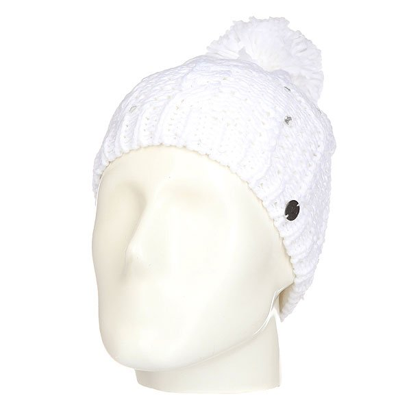 Шапка женская Roxy Shootstarbeanie Bright White
