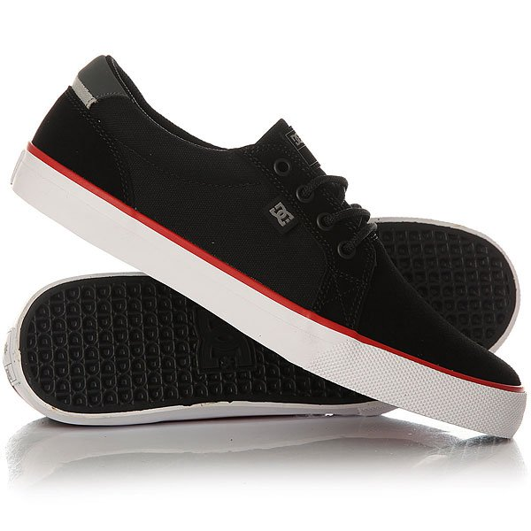 Кеды кроссовки низкие DC Council S Black/White/Red