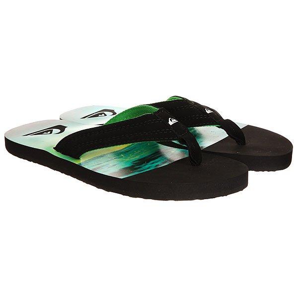 Вьетнамки Quiksilver Basis Black/Green