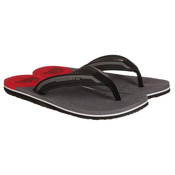 Вьетнамки Quiksilver Molokai New Wav Black/Grey/Red