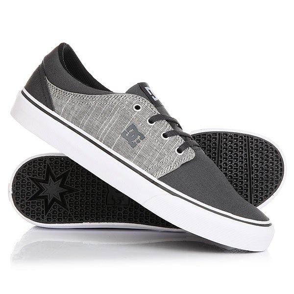 Кеды кроссовки низкие DC Trase Tx Se Charcoal Grey